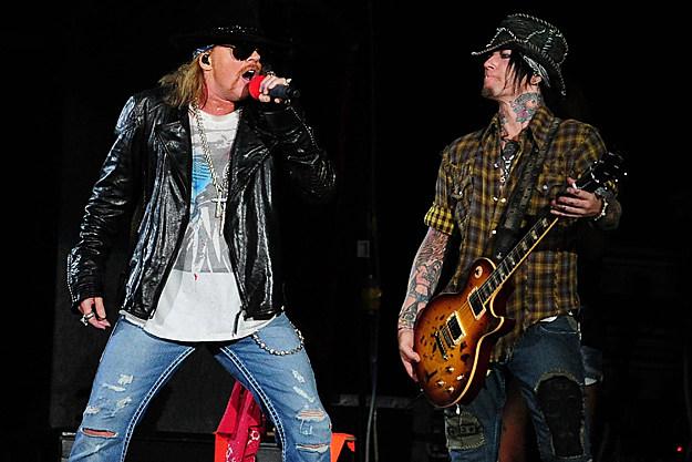 Axl Rose and DJ Ashba of Guns N' Roses