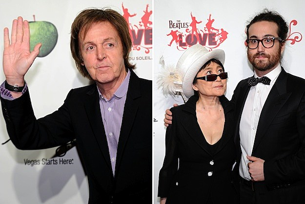 Paul McCartney / Yoko Ono and Sean Lennon