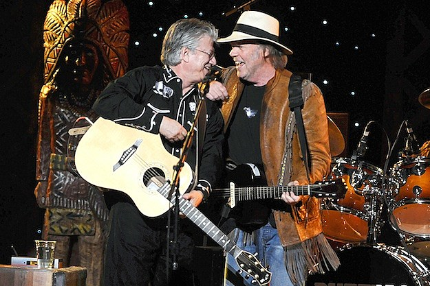 Buffalo Springfield's Richie Furay and Neil Young