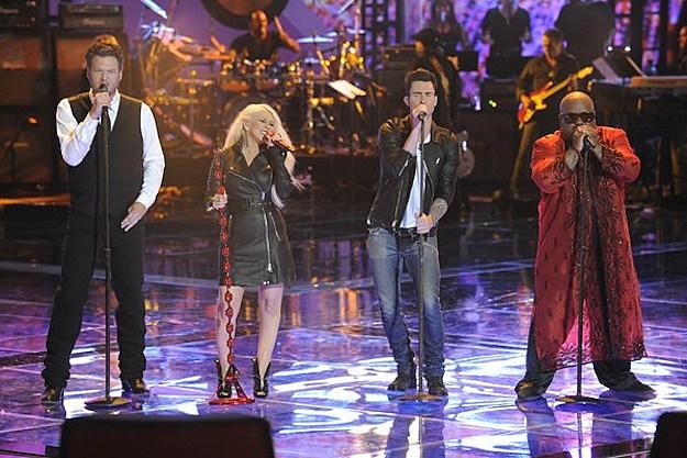 Blake Shelton, Christina Aguilera, Adam Levine, Cee Lo Green