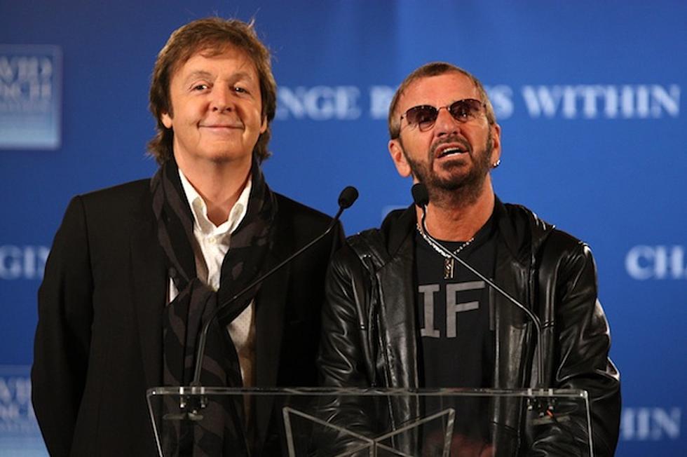 Paul McCartney Plays Beatles Birthday For Ringo Starr