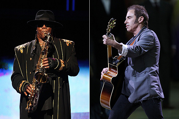 Clarence Clemons and Nils Lofgren