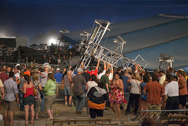 Sugarland Stage Collapse