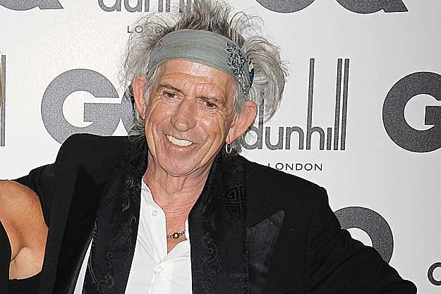 Photo de Keith Richards avec un hauteur de 175 cm et à l'age de 73 en 2017