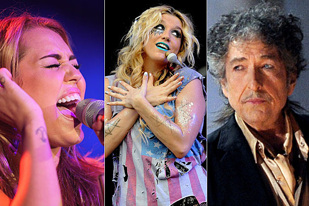 Miley Cyrus, Ke$ha, and Bob Dylan