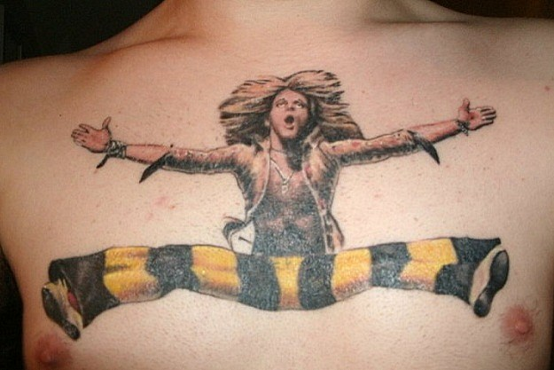 david lee roth chest tattoo wow