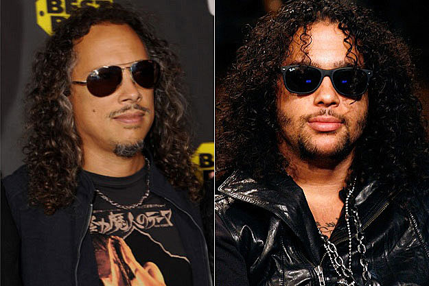 Kirk Hammett and Sky Blu