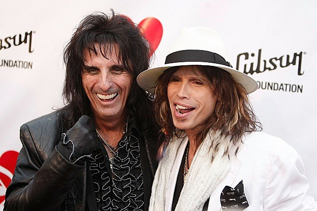 Alice Cooper and Steven Tyler