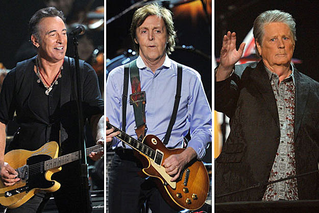 Bruce Springsteen, Paul McCartney, Brian Wilson