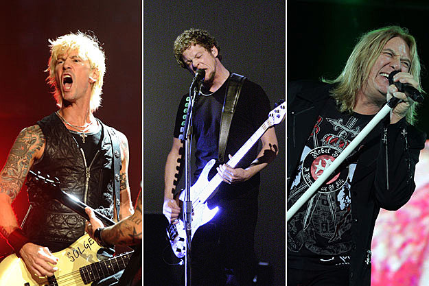 Duff McKagan, Jason Newsted, and Joe Elliott