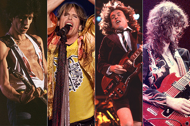 Keith Richards / Steven Tyler / Angus Young / jimmy Page
