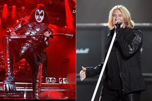 Gene Simmons and Joe Elliot