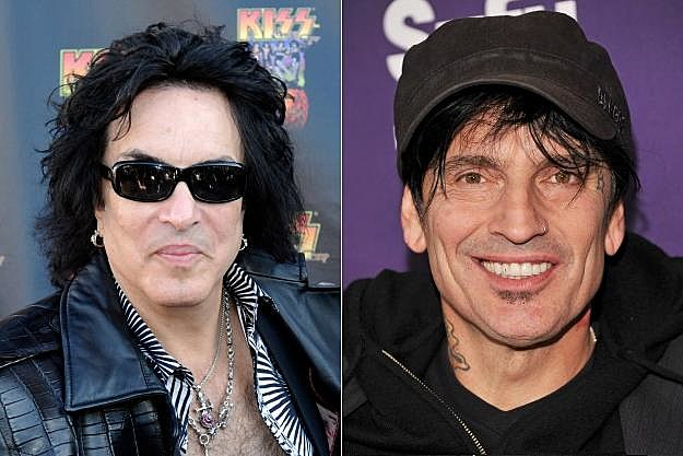 Paul Stanley and Tommy Lee