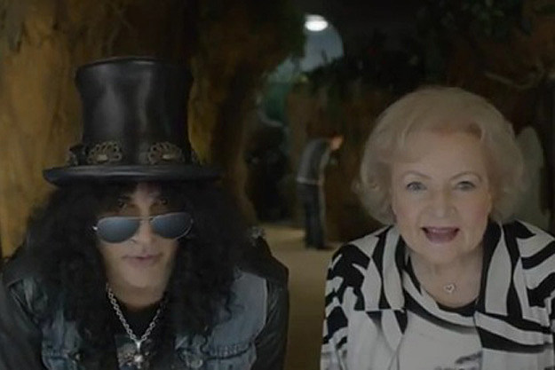 Slash, Betty White