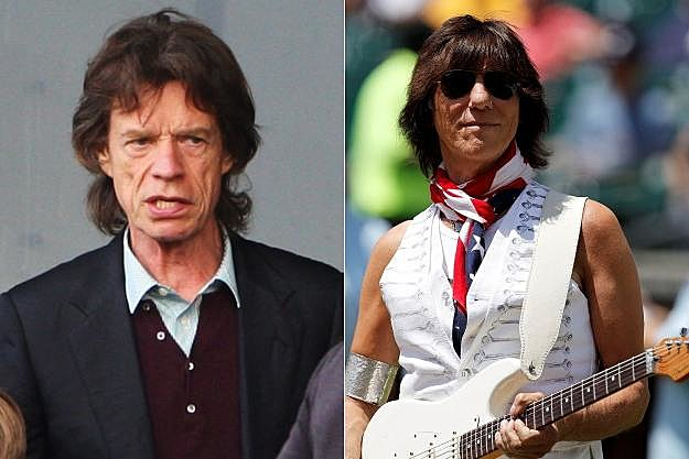 Mick Jagger Jeff Beck