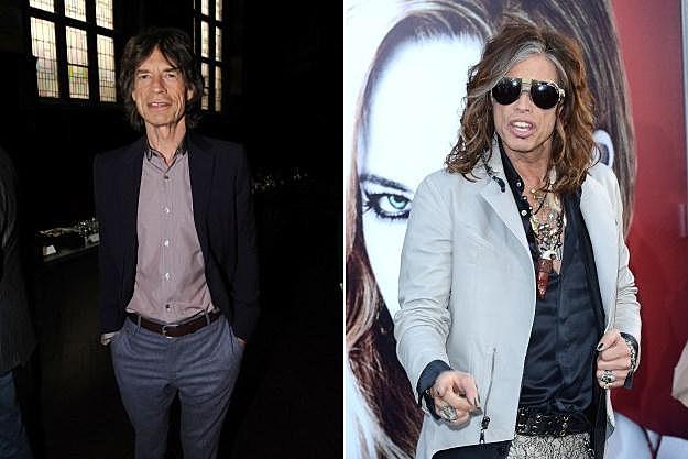 Mick Jagger Steven Tyler