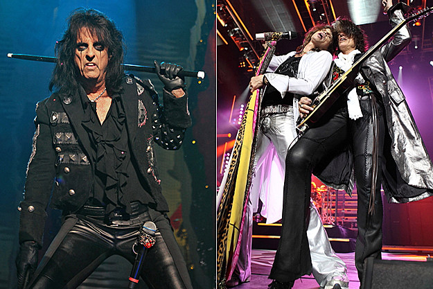 Alice Cooper and Aerosmith