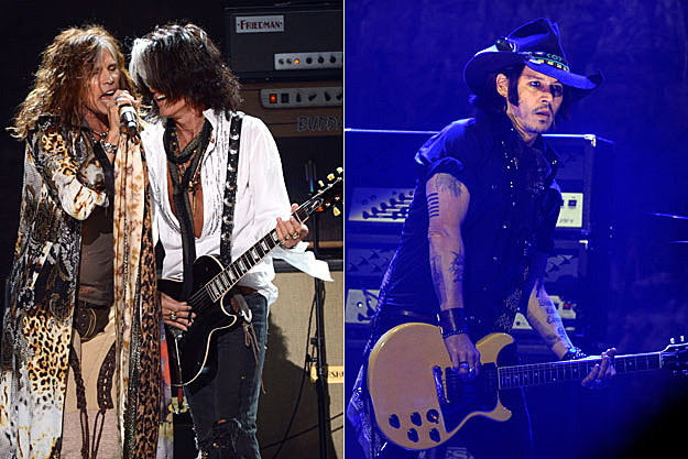 Steven Tyler-Joe Perry-Johnny Depp