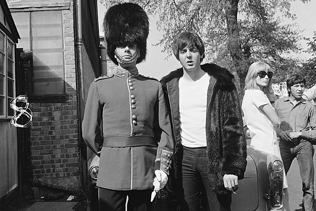 Victor Spinetti and Paul McCartney
