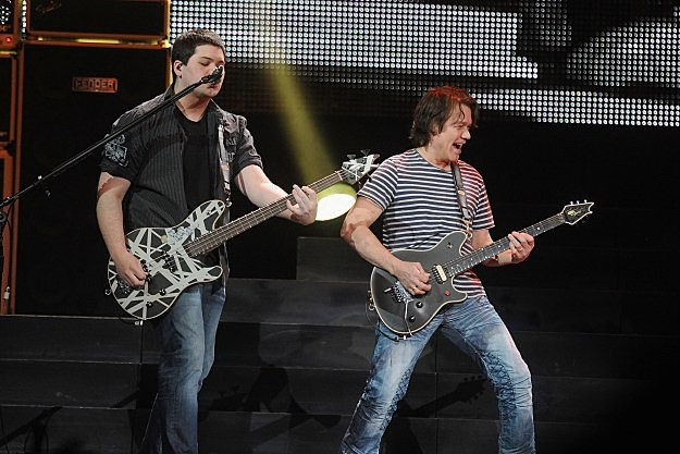 Eddie and Wolgang Van Halen