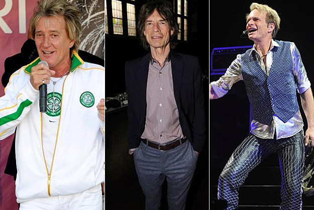 Rod Stewart / Mick Jagger / David Lee Roth