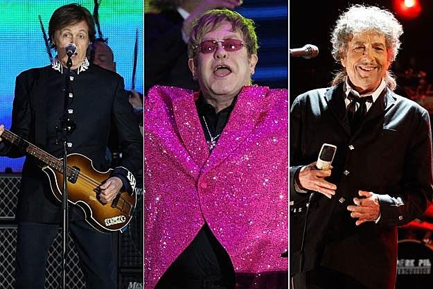 Paul McCartney-Elton John-Bob Dylan