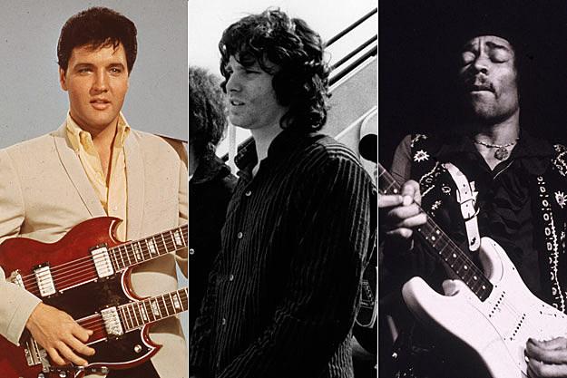 Elvis Presely, Jim Morrison, Jimi Hendrix
