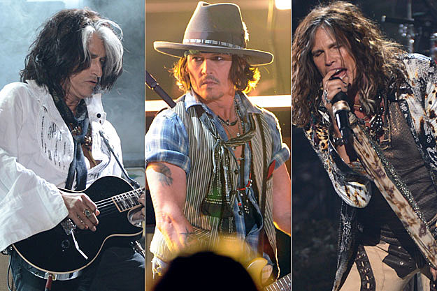Steven Tyler, Johnny Depp, Joe Perry