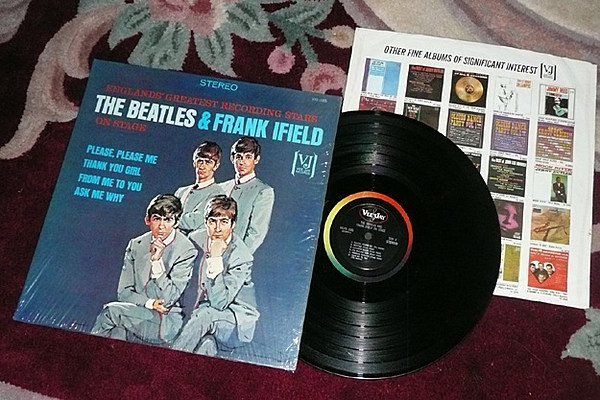 The Beatles Amp Frank Ifield Stereo On Stage Album Sells