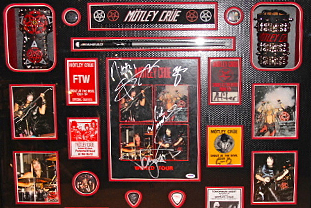 Motley Crue Framed Autographed Memorabilia Sells For 5k