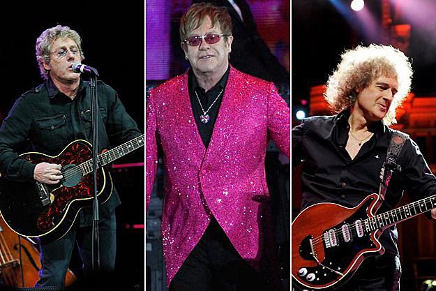 Roger Daltry, Elton John, Brian May