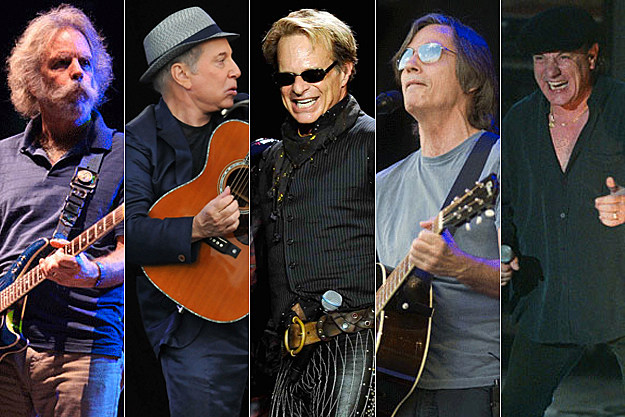 Bob Weir / Paul Simon / David Lee Roth / Jackson Browne/ Brian Johnson, Getty Images
