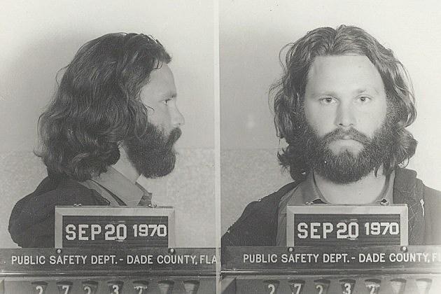 Jim Morrison Mug Shot