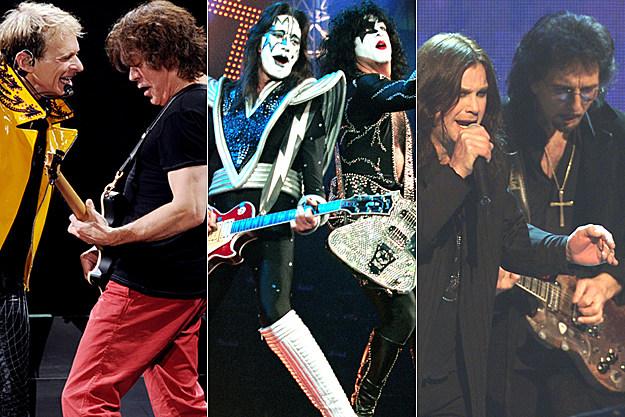 Van Halen, Kiss, Black Sabbath