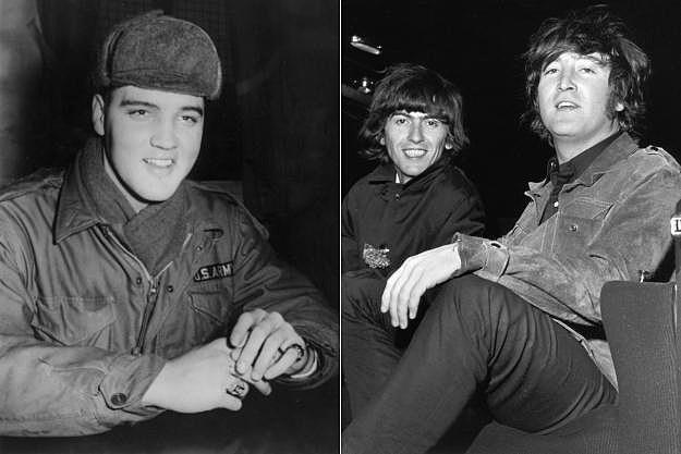 Elvis Presley John Lennon George Harrison