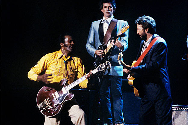 Keith Richards Chuck Berry Eric Clapton