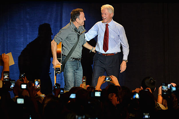 Bruce Springsteen and Bill Clinton
