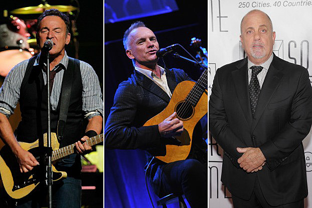 Bruce Springsteen, Sting, and Billy Joel