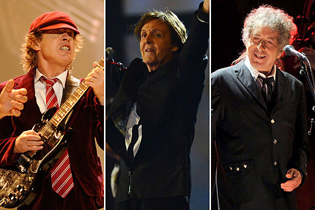 AC/DC, Paul McCartney, Bob Dylan