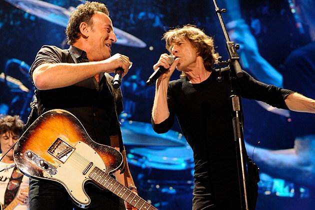 Mick Jagger Bruce Springsteen