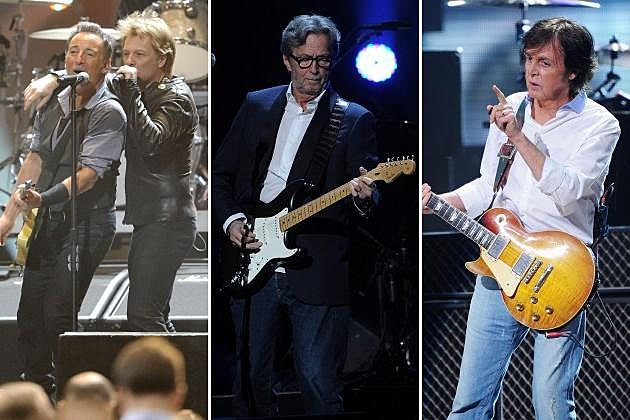 Bruce Springsteen Jon Bon Jovi Eric Clapton Paul McCartney