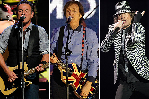 Bruce Springsteen-Paul McCartney-Mick Jagger
