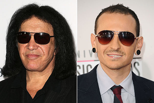 Gene Simmons and Chester Bennington