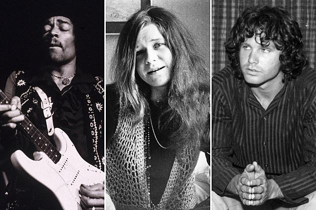 Jimi Hendrix, Janis Joplin, and Jim Morrison