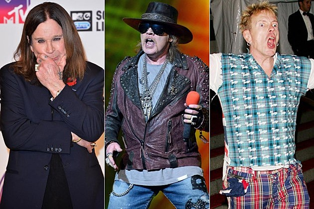 Ozzy Osbourne Axl Rose Johnny Rotten