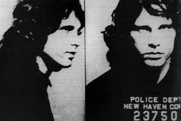 Jim Morrison mugshot New Haven 1967