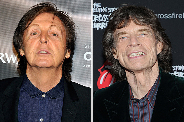 Paul McCartney Mick Jagger
