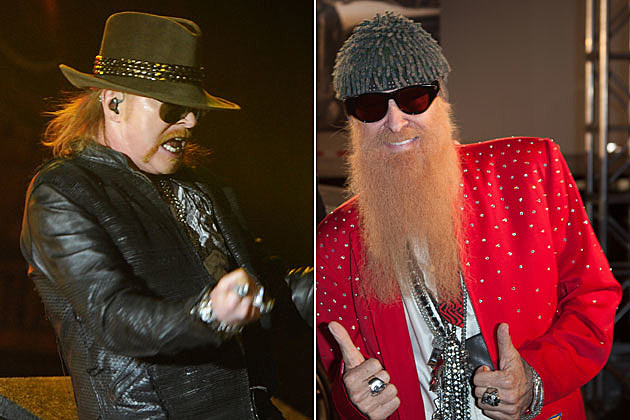 Axl Rose and Billy Gibbons