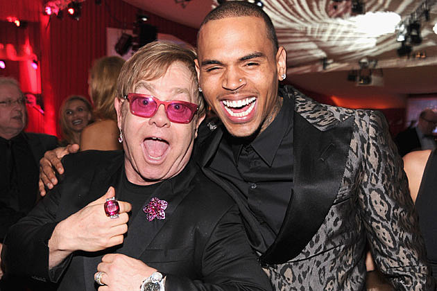 Elton John, Chris Brown