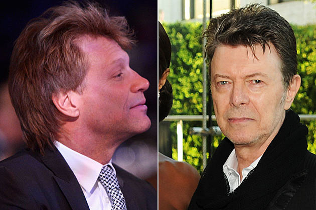 Jon Bon Jovi and David Bowie